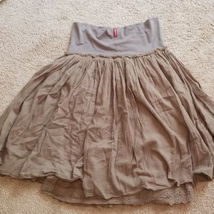 Olive grey hard tail skirt!